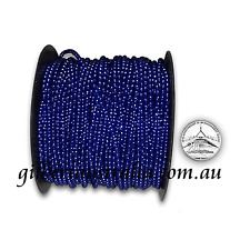 Blue Navy 3mm 10 mtr Wedding Bridal Cake Decoration Pearls Fused Beads on String