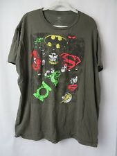 Marvel Super Hero T Shirt Superman Batman + Short Sleeve Crew Brown 2XL #7413