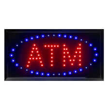 "19""x10"" Led Neon Light Business Sign Atm Animated Motion Display w/On Off Switch"