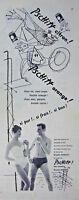 PUBLICITÉ DE PRESSE 1955 PSCHITT CITRON OU ORANGE PERRIER AVEC BRIGITTE BARDOT..