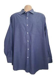 Tommy Hilfiger XL Immaculate Dark Blue Geometric Shirt