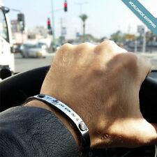 Mens ID Bracelet - Custom Leather Bracelet for Men - Cool Birthday Gift for Him