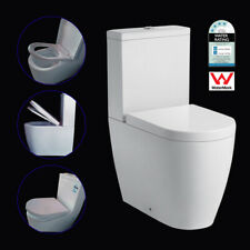High Toilet Suite Back To Wall Ceramic Rimless  Soft Close Seat P/ S Trap WELS