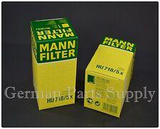 Mercedes-Benz (2PCS) Mann Engine Oil Filter Fleece HU718/5X Germany