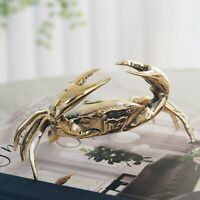 Bronson Brass Crab Sculpture Medium 14cm Hamptons Coastal Home Decor