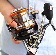 1 New Aluminum rod fly pole Power Gear Spinning Spool twist Fishing Reel Roller