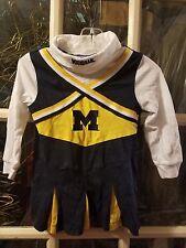 Michigan Wolverines Cheerleader Dress Outfit Toddler Girls 3T Brady U of M