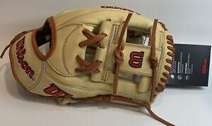 """2021 Wilson A2000 1787 Infield Glove 11.75"""" Baseball Blonde RHT New"""