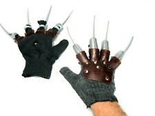 VTG Freddy Kruger Claw Hand Gloves Lot of (2) Spiked Nightmare Halloween Costume