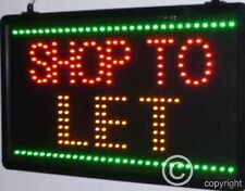 QUALITY FLASHING SHOP TO LET LED sign board new window shop signs