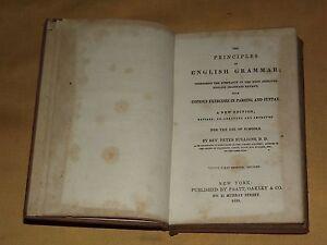 ANTIQUE BOOK 1859 REV BULLIONS PRINCIPLES OF ENGLISH GRAMMAR