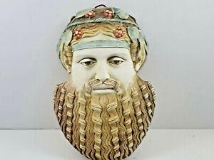 Greek God Dionysus Mask, Greek Museum Stamped Hand made