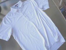 Peter Millar Summer Comfort Mens Golf Polo Shirt sz L Large WHITE w/ Pocket