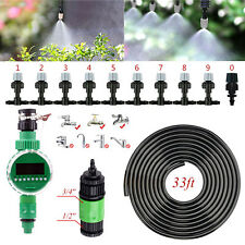 Garden Patio Water Mister Air Misting Cooling Micro Irrigation System W/ Timer