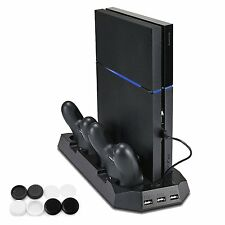 PECHAM Vertical Stand Dual Micro  with Cooling Fans for Playstation 4 - Imported