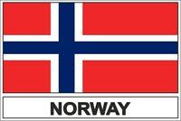 Sticker adesivi adesivo bandiera norvegia n