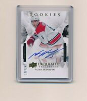 2015-16 Upper Deck Ice Exquisite  170/249 Noah Hanifin #ESRP-NH Rookie Auto