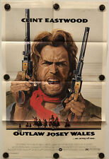 THE OUTLAW JOSEY WALES Original One Sheet Movie Poster - 1976 - CLINT EASTWOOD