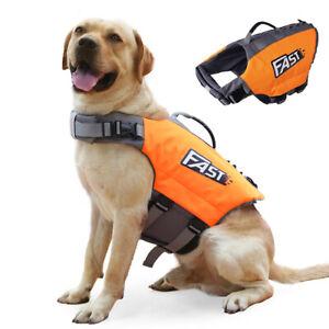 Dog Life Jacket Swimming Safety Vest Pet Floating Buoyancy Aid Chest Strap