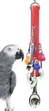 3368 Spoon Stick Pull Delight Bird Toy Cage Toys Cages Foraging Chew Shredder