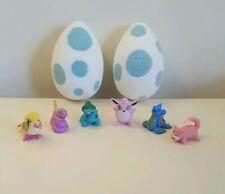 THREE(3) hand made pokemon inspired egg bath bomb bombs with toys