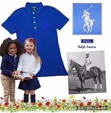 Ralph Lauren Girls Big Pony POLO SHIRT Cap Sleeve Blue AGE 3(4)Years BNWT