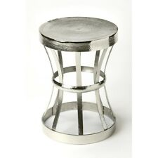Butler Broussard Industrial Chic End Table, Silver - 4326330