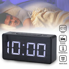 Modern LED Digital Alarm Clock USB Snooze Table Clock Electronic Clock Thermomet