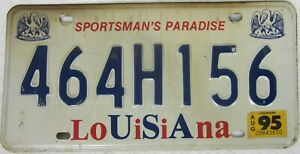 LOUISIANA licence/number plate US/United States/USA/American 464 H156