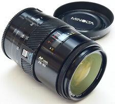 MINOLTA A 28-85mm 3.5-4.5+ Macro + Capucha - (Sony) - Todo Metal barril de lente
