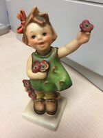 "Goebel Hummel Figurine SPRING CHEER 72 TMK 3 5.25"" Tall"