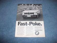 "1973 BMW 2002 Vintage Ad ""Fast-Poke"""