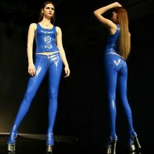 Women Faux Latex Legging Stretch Wet Look Skinny Zipper Pencil Pants