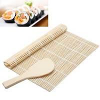 Tappetino+paletta bambù arrotolare preparare riso SUSHI makisu roller cucina