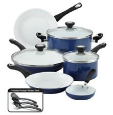 Cooking Set Pots and Pans Nonstick Ceramic Coated Cookware PTFE PFOA Free Blue