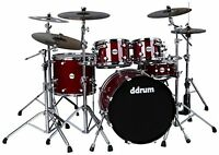ddrum REFLEX ELT 522 TRD Elite 5 Piece Shell Pack Kit, Trans Red Lacquer