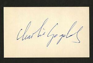 Charley Gogolak signed autograph 3x5 card Princeton Football Player F128