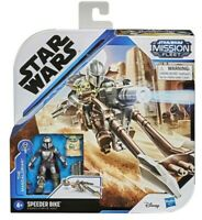 Star Wars Mission Fleet The Mandalorian Speeder Bike Baby Yoda Disney Hasbro NEW