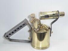 VINTAGE 1/2 PINT PLUMBERS BRASS BLOW TORCH LAMP FROM VERITAS