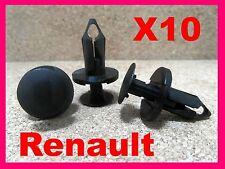 10 Renault Motor Undertray Träger Befestigung Halteklammern