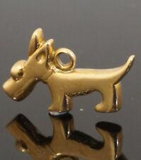 9Carat Rose Gold Dog Charm (Approx 18x11mm)