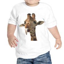 T-Shirt Neonato Giraffa Lingua Divertente