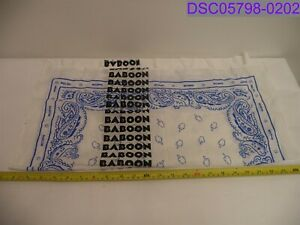 """Baboon to the Moon Middle Finger White Handkerchief 23-1/2"""""""