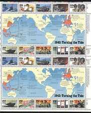 USA 1993 WWII/Planes/Ships/Military/Army/Nurse/Transport/Maps 20v sht (n25004)