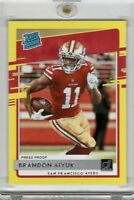 2020 PANINI DONRUSS FOOTBALL BRANDON AIYUK RATED ROOKIE YELLOW PRESS PROOF 49ers