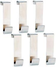 6x Edelstahl Universal-Türhaken Haken Kleiderhaken Tür-Garderobe Edelstahlhaken