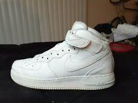 Nike Air Force 1 Triple White Mid Mens11.5