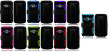 For ZTE Concord 2 II Z730 / MARTIN 2 II Clip + Hybrid Armor Phone Cover Case