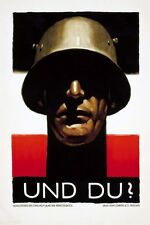 German WW2 Wehrmacht Waffen SS Officer large Poster #5