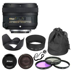 Nikon 50mm f/1.8G AF-S NIKKOR Lens + Deluxe Accessory Kit for Nikon DSLR Cameras